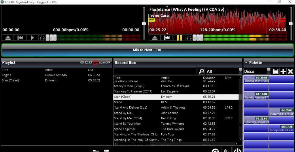 Professional DJ software screenshot